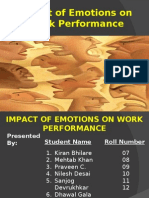 Impact of Emotions on Work Performance