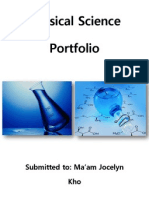 physical science portfolio