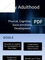 Early Adulthood Development Physical and Cogntiive