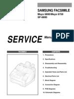 samsung sf6800 Service manual