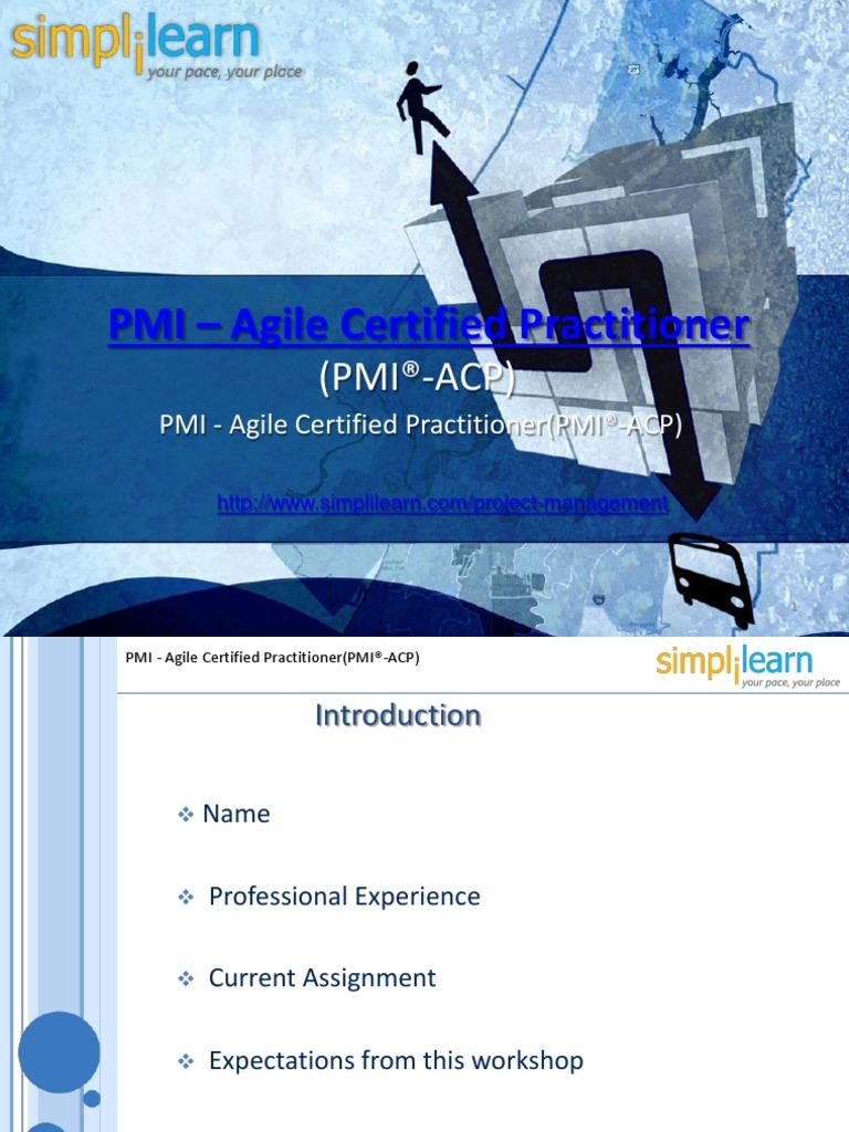 Pmi Acp Certification Requirements Agile Software Development