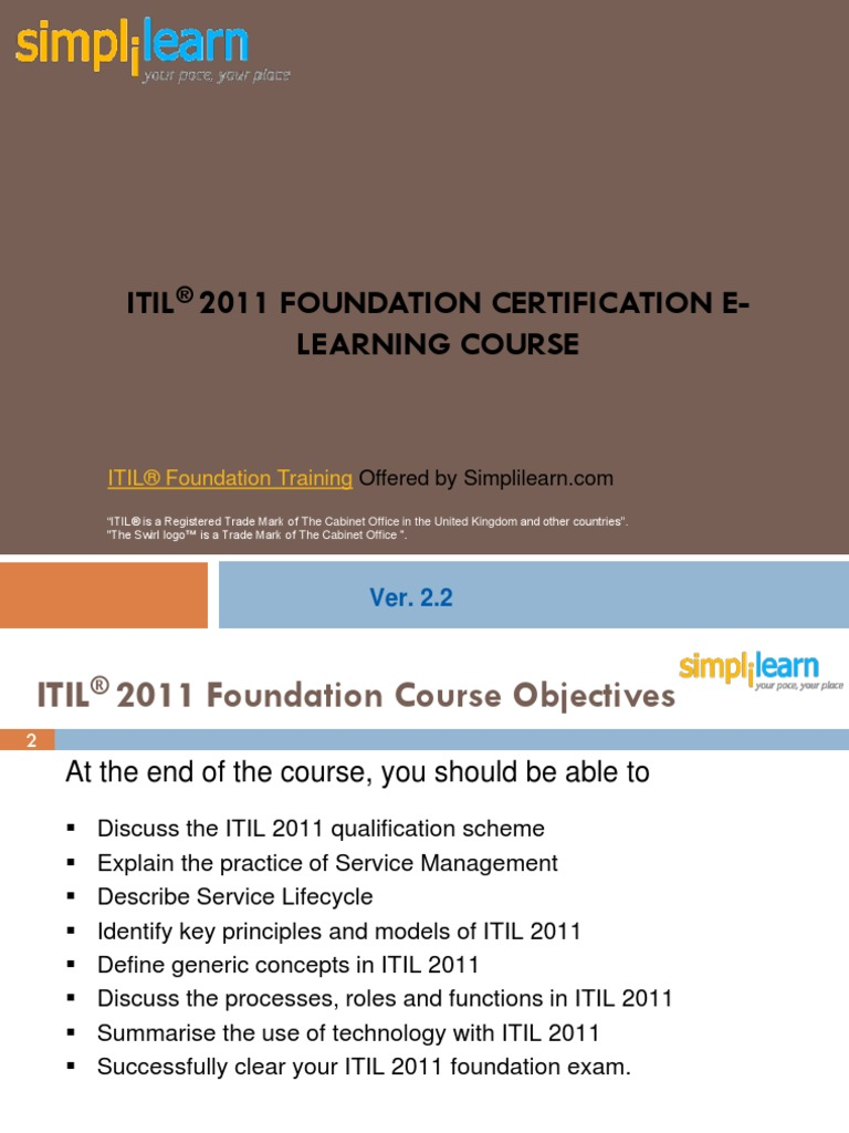 Itil Foundation Training Itil Information Security