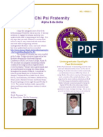 Chi Psi Alumni Newsletter March Vol 1 Issue2