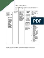 Family Nursing Care Plan in Case Study