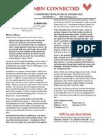 Women Connected Newsletter - February 2013