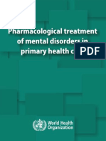 psychiatry drug treatment in primary care