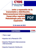 Planeamiento y expansión de la transmisión y distribución C