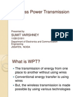 presentation ppt on wireless energy transfer