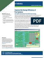 fan system assessment tool fact sheet