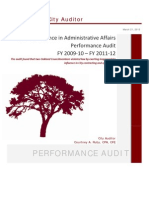 Oakland City Auditor Interference Report, March 2013