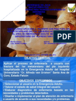 Caso Clinico Fx 1er Metatarsiano de Pie Izq