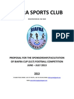 Proposal for Sponsorship of Biafra u17 Cup 2013