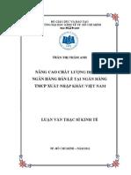 Nang Cao Chat Luong Dich Vu Ngan Hang Ban Le Tai Ngan Hang Tmcp Xuat Nhap Khau Vn 8532