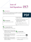 Applications of Differential Equations