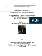 Training Manual on Vegetable Seed Treatment and Conditioning