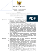 Peraturan Walikota Manado Nomor 37 Tahun 2012_tpp 2013