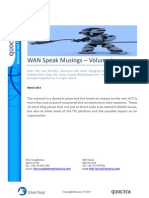 WAN Speak Musings – Volume I