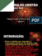 A ALEGRIA DO CRISTÃO - ppt