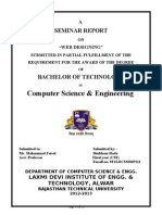 Seminar Report on Web desinging