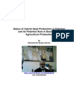Status of Hybrid Seed Production in Pakistan and Its Role in Boosting Up Agricultural Production