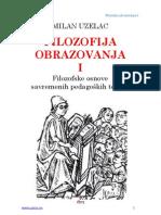 Milan Uzelac Filozofija Obrazovanja I
