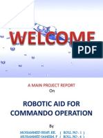 Robotic Aid for Commando Operation