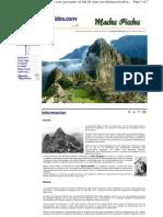 Guia Machu Picchu Allwordlguides