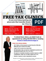 Bonnie Crombie Free Tax Clinic 2013_Event Poster_Final