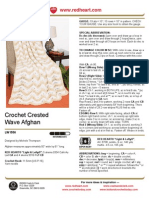 Crochet Crested Wave Afghan