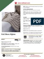Knit Wave Afghan