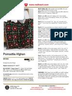 Poinsettia Afghan