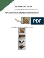 Cara Membuat Kipas Dari Kertas