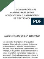Reglas de Seguridad Mas Comunes Para Evitar Accidentes