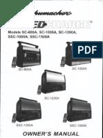 Schumacher Speed Charge Owner's Manual - Models SC-600A, SC-1000A, SC-1200A, SSC-1000A, SSC-1500A