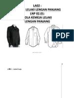 Pola Baju Kemeja Lengan Panjang