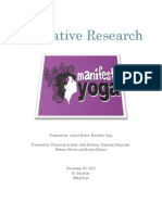 Formative Research- Manifest Yoga