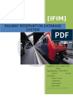 indian rail reservation database systemIt Project