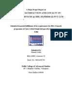 Customer Satisfaction of DHL