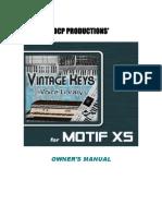 Vintage Keys Xs Manual