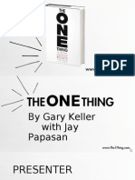 The ONE Thing DIY Presentation