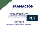 Programacion Refuerzo de Lengua 2 ESO Curso Tolosa