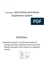 Passive Semi Active and Active Suspension System
