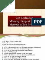 Presentation on Job Evaluation
