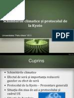 Schimbarile Climatice Si Protocolul de La Kyoto
