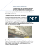Corrosión del acero en el concreto