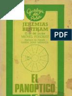 Bentham, Jeremias - El Panoptico (El Ojo Del Poder - Foucault)