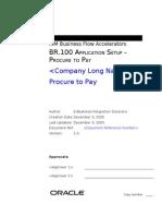 BR100 Application Setup Procure to Pay 0