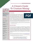 Citizen's Guide to Uranium Mining - 2012