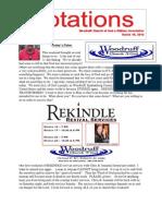 Newsletter 3.19.13