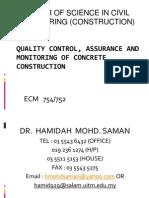 Concrete Construction(Week1&2)